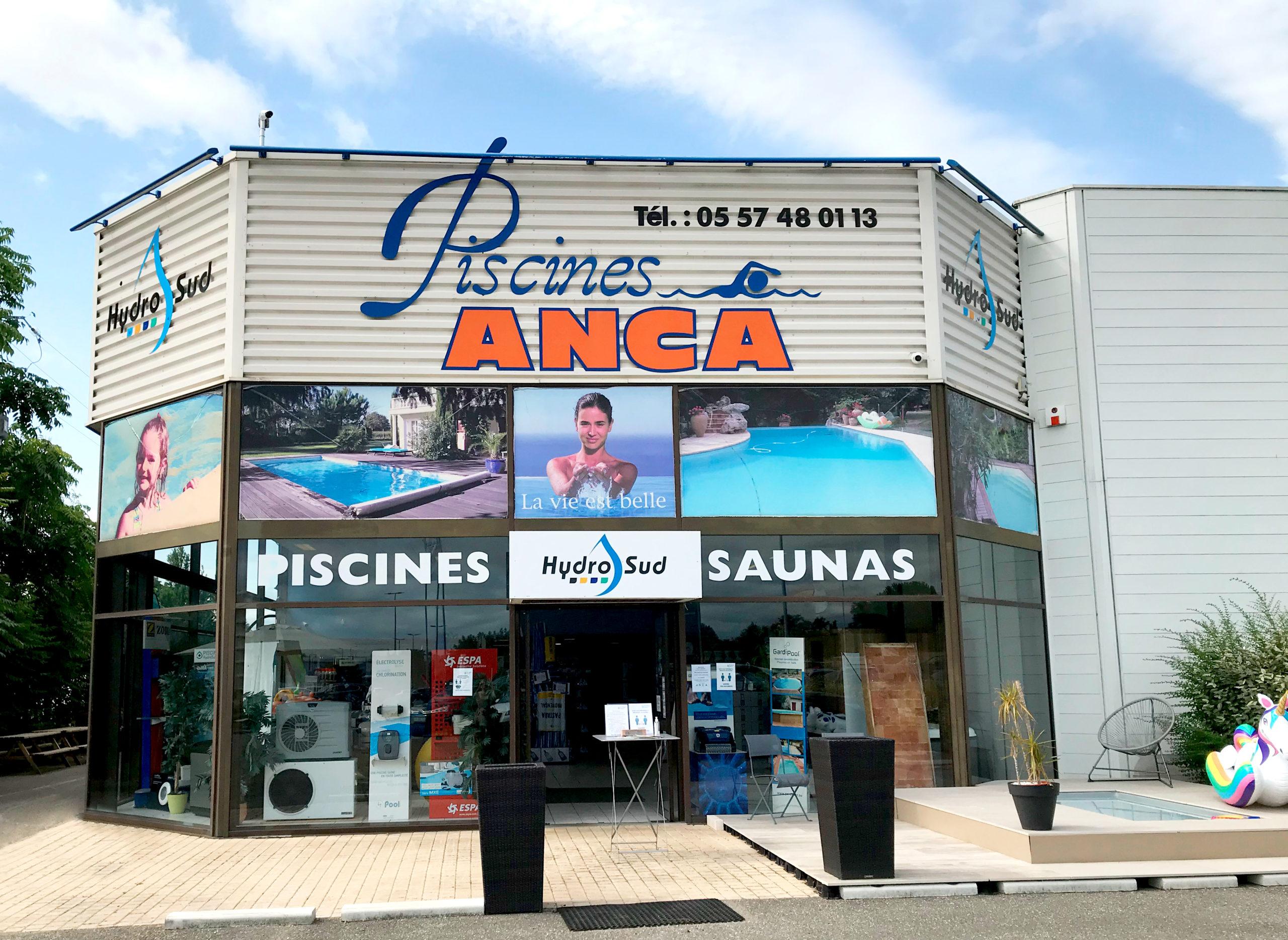 Façade du magasin Piscines Anca Libourne