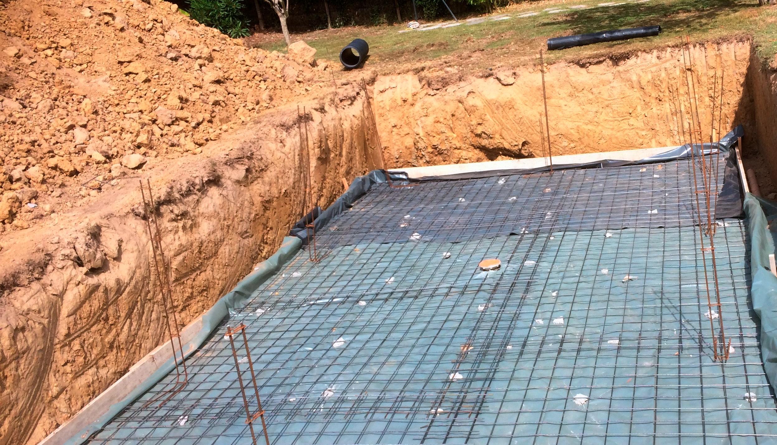 construction d'une piscine à Libourne préparation du sol d'une piscine maçonnée